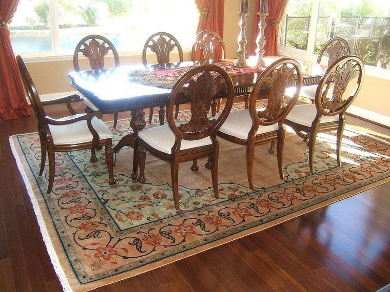 alfombras orientales comedor