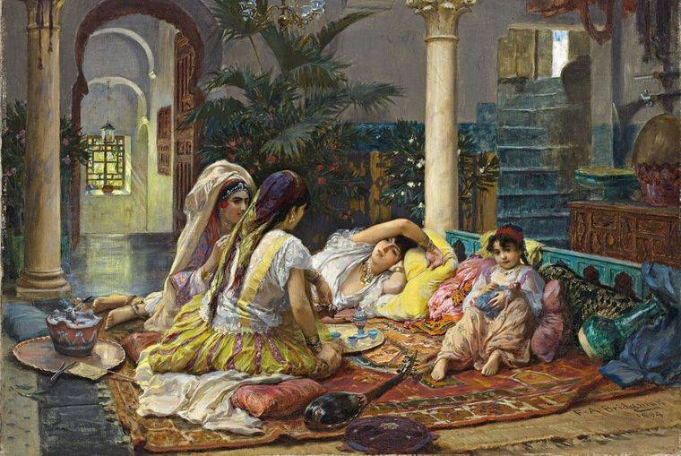 alfombras orientales pinturas