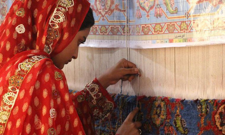 alfombras orientales tejidas