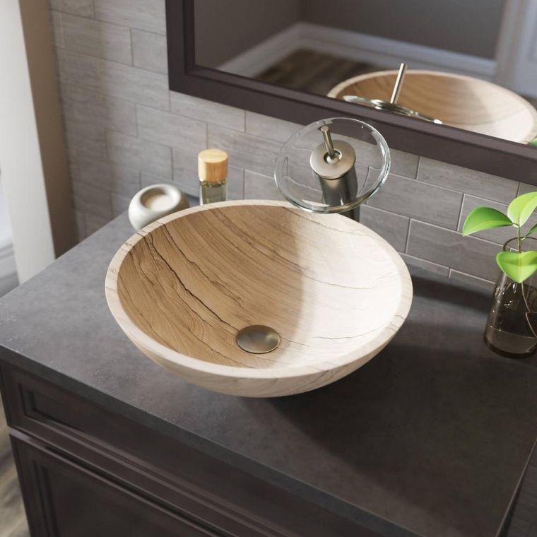 baños modernos arenisca