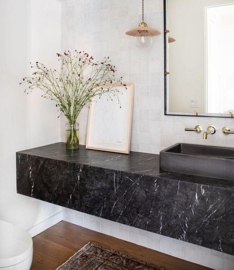 baños modernos piedra marmol