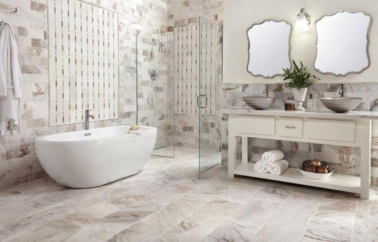 baños modernos piedra