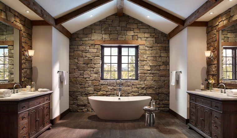 baños modernos rustico