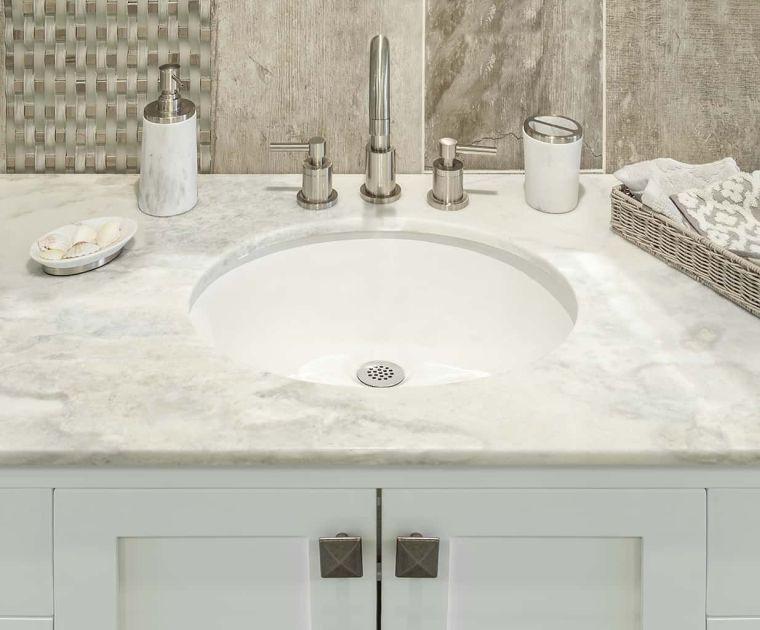 baños modernos tope blanco