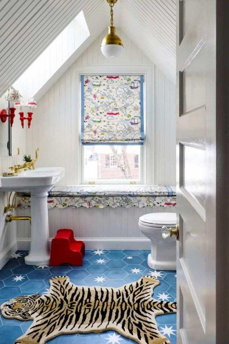 baños para niños alfombra