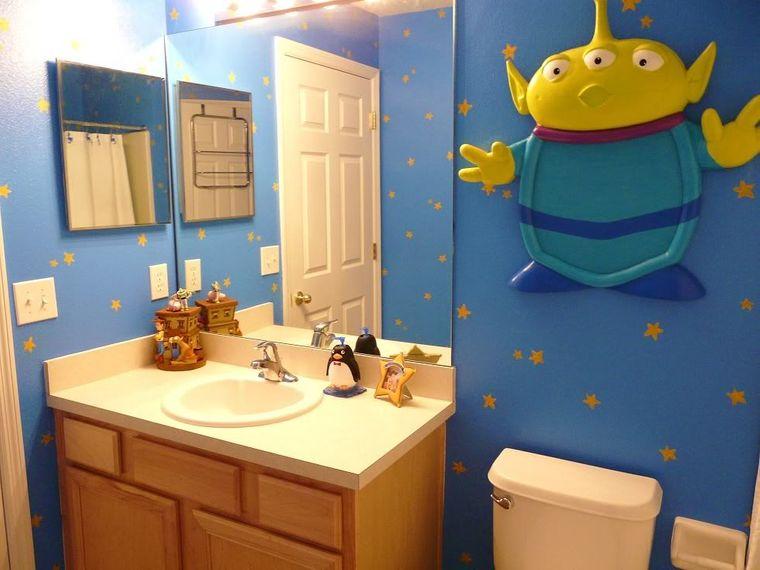 baños para niños azul