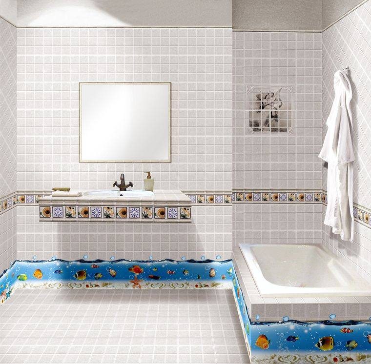 baños para niños azulejos