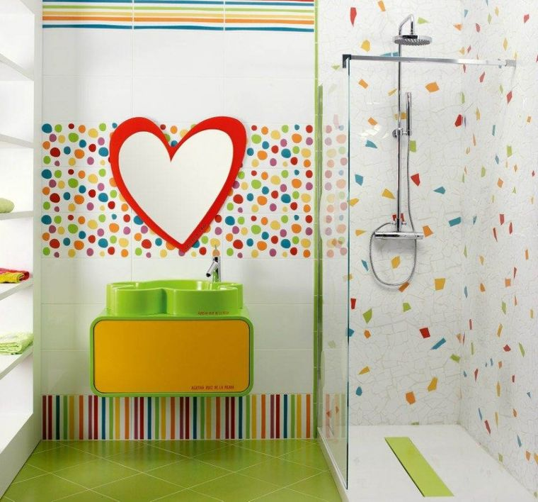 baños para niños corazon