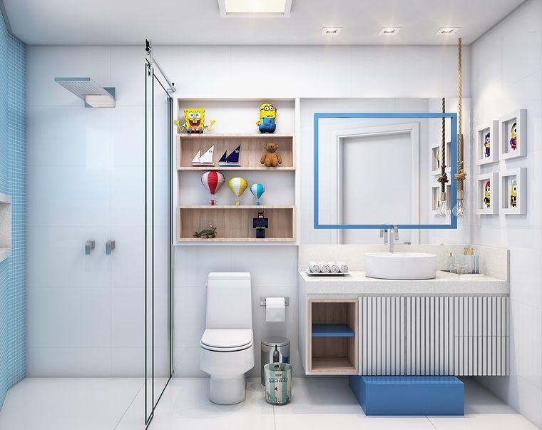 baños para niños cuadros