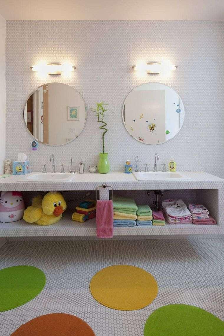 baños para niños doble