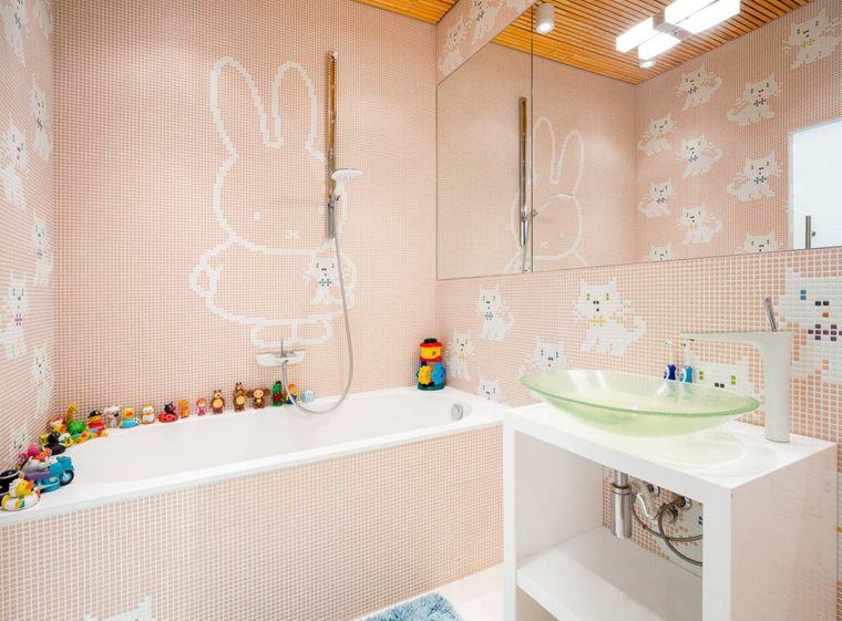 baños para niños gatitos