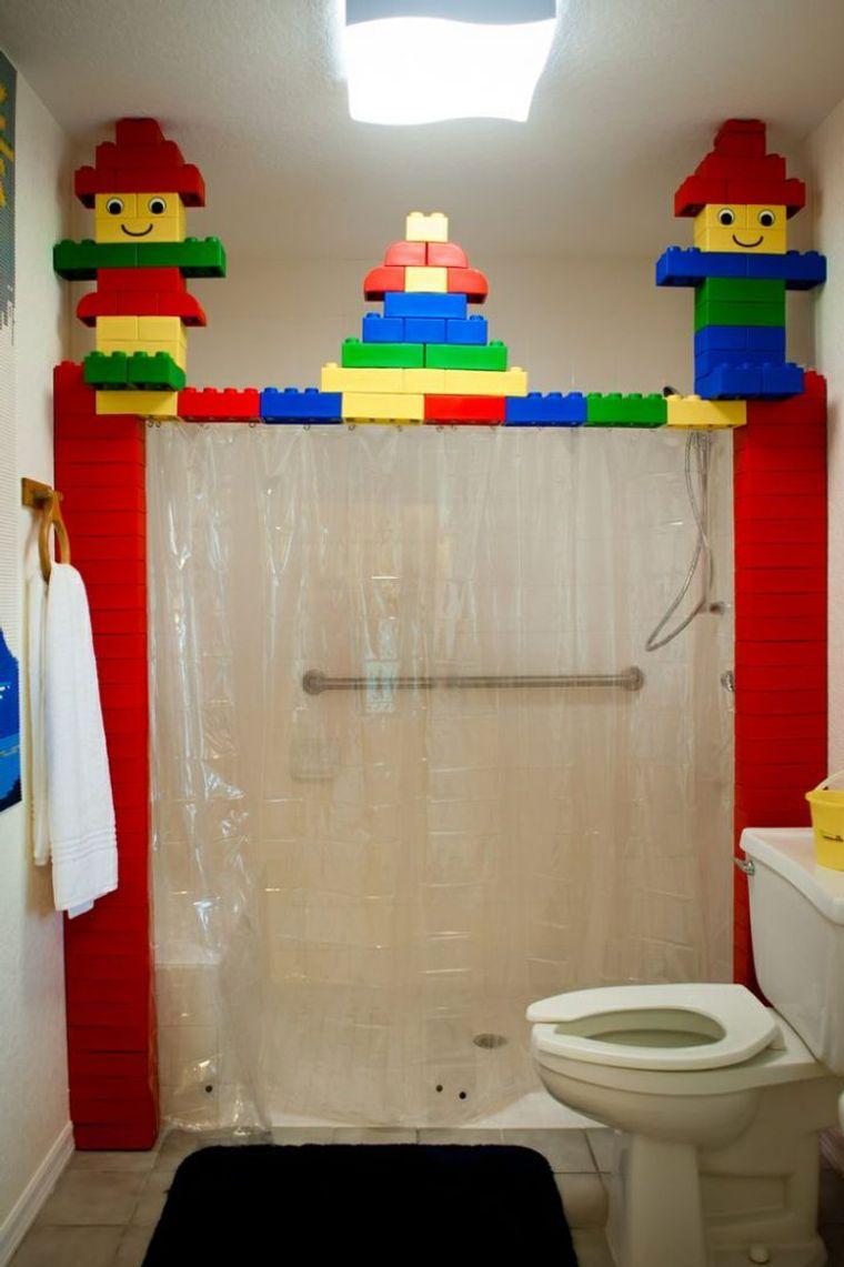 baños para niños lego