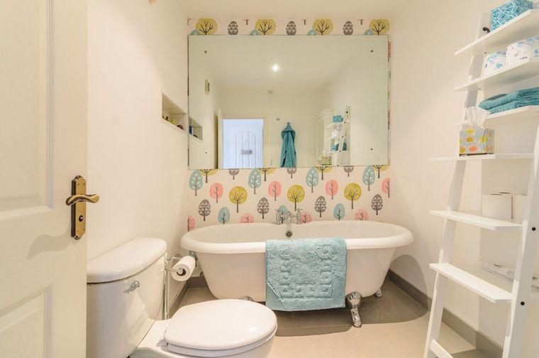 baños para niños minimalista
