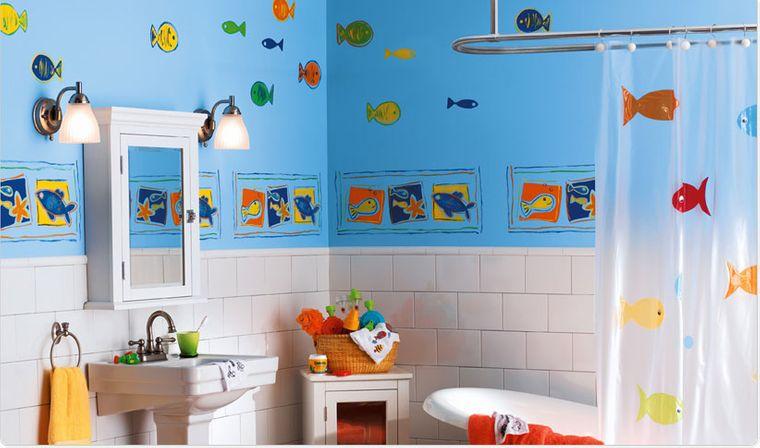 baños para niños motivos pared