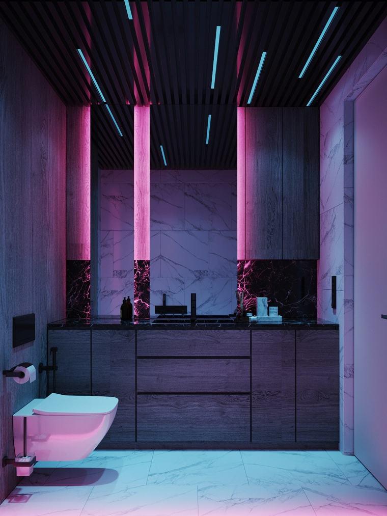 baño de color tendencias-2020-iluminacion
