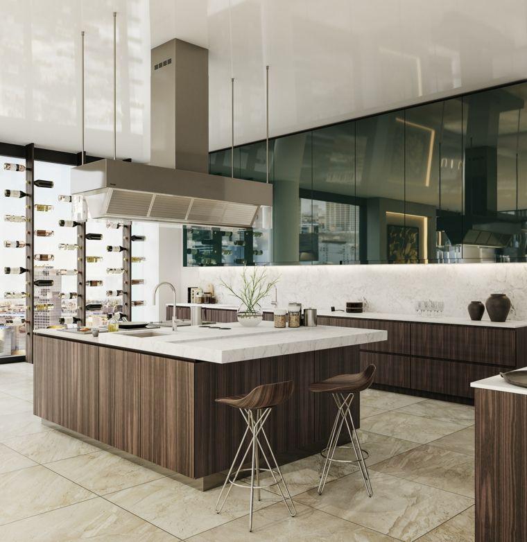 cocina-amplia-muebles-estilo-lujoso