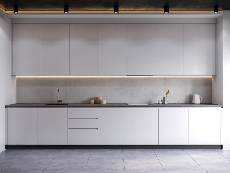 cocina-pared-blanca-muebles-ideas