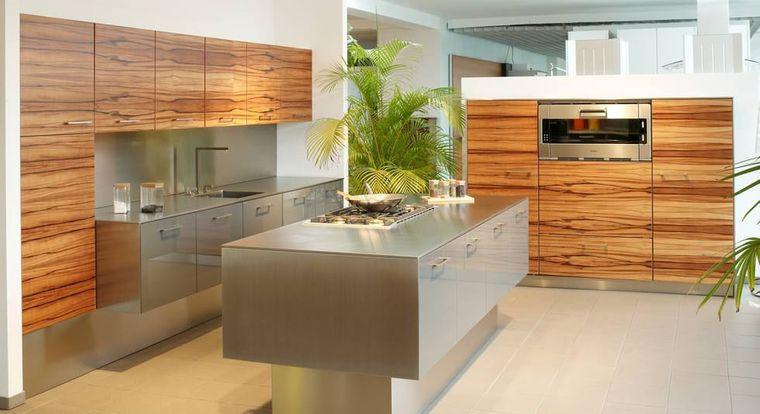 cocinas con isla madera