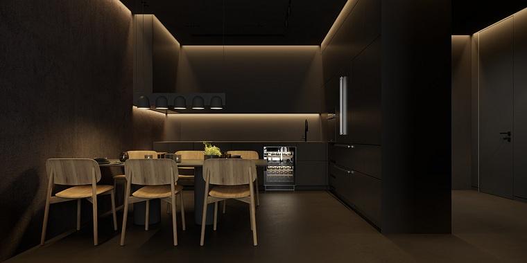 cocinas-con-muebles-negros-diseno-minimalista