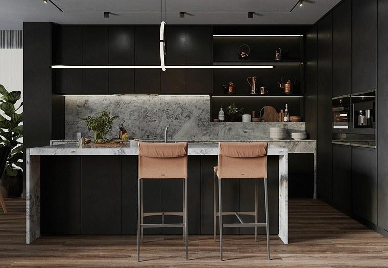 cocinas-modernas-muebles-negros-ideas