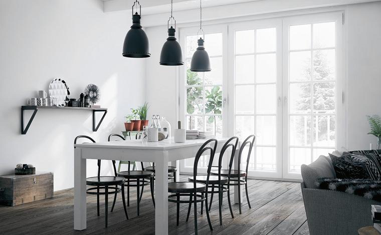 como-decorar-un-comedor-mesa-blanca