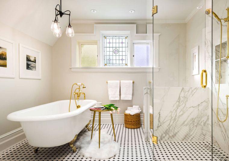 decoración cuartos de baño dorado