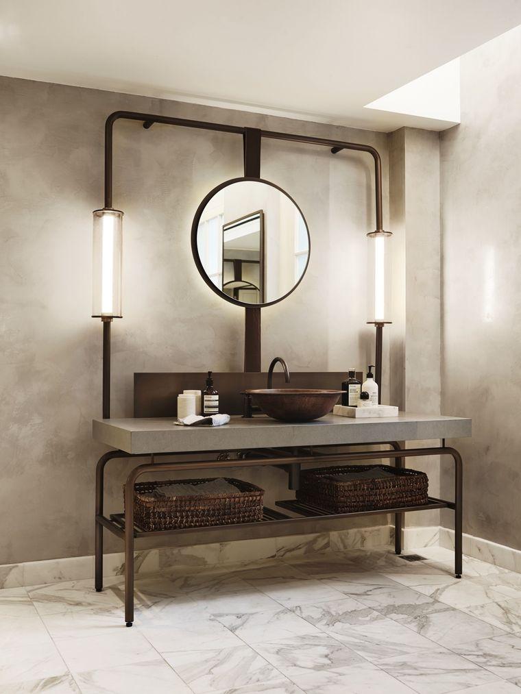 decoración cuartos de baño industrial