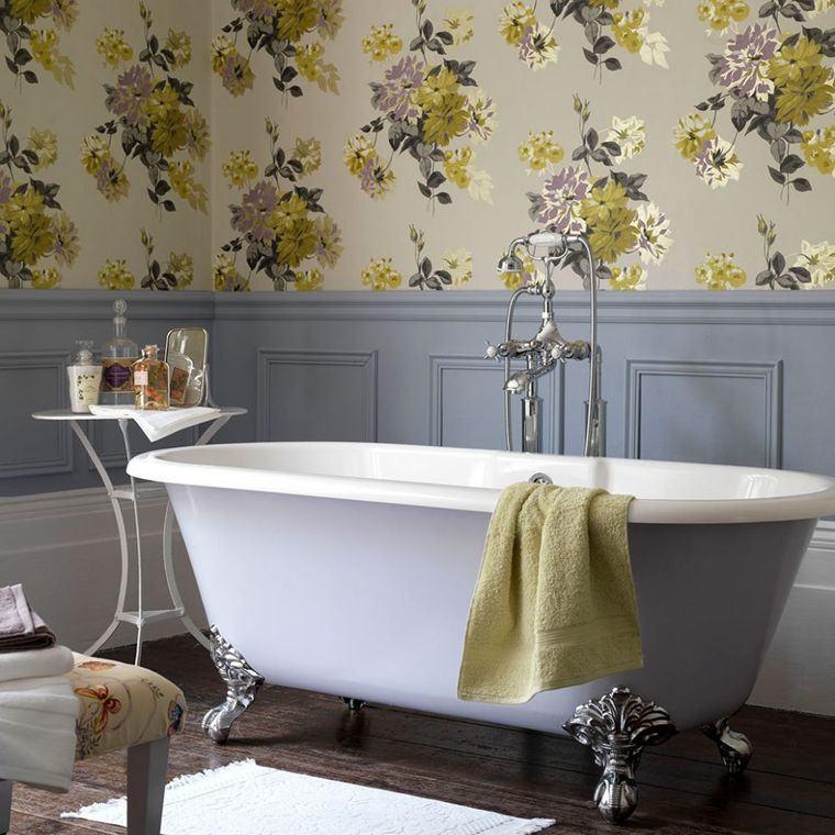 decoración cuartos de baño papel tapiz