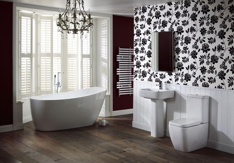 decoración cuartos de baño papel