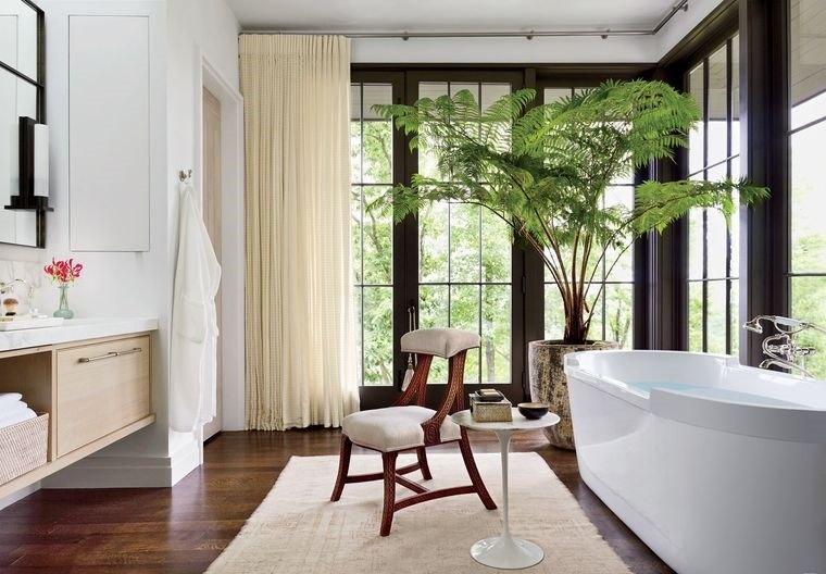 decoración cuartos de baño plantas