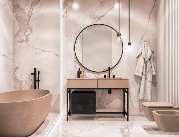 decoración cuartos de baño rosa