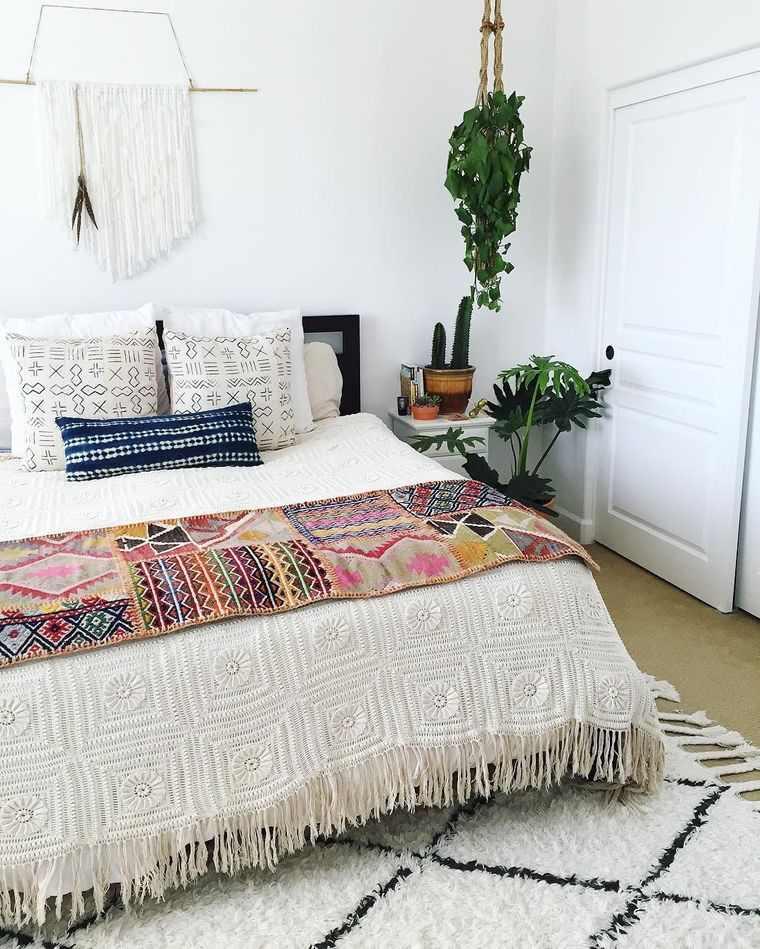 decoración de dormitorios bohemio