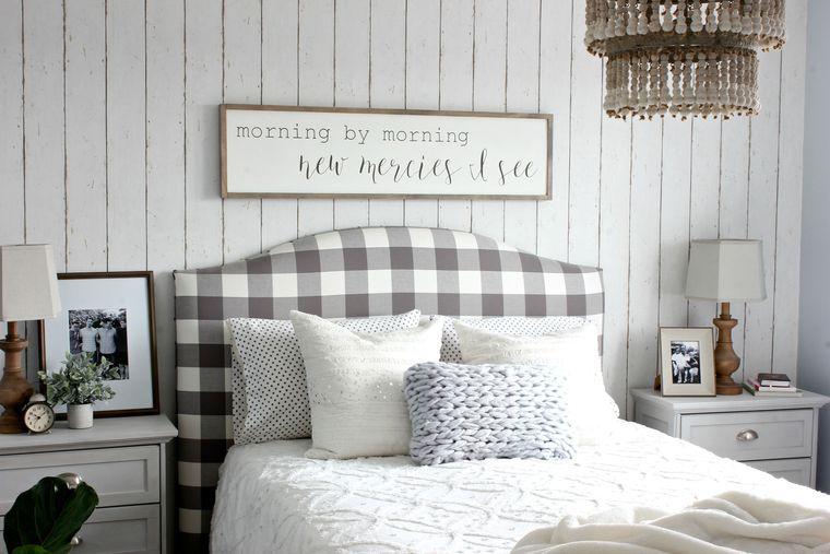 decoración de dormitorios madera blanca