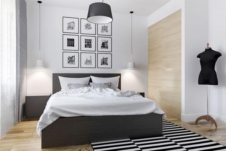 decoración de dormitorios monocromaticos