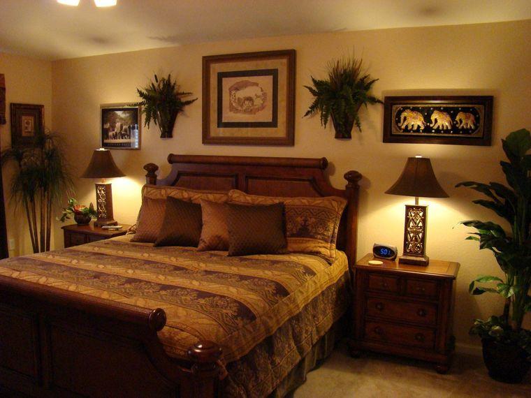 decoración de dormitorios safari