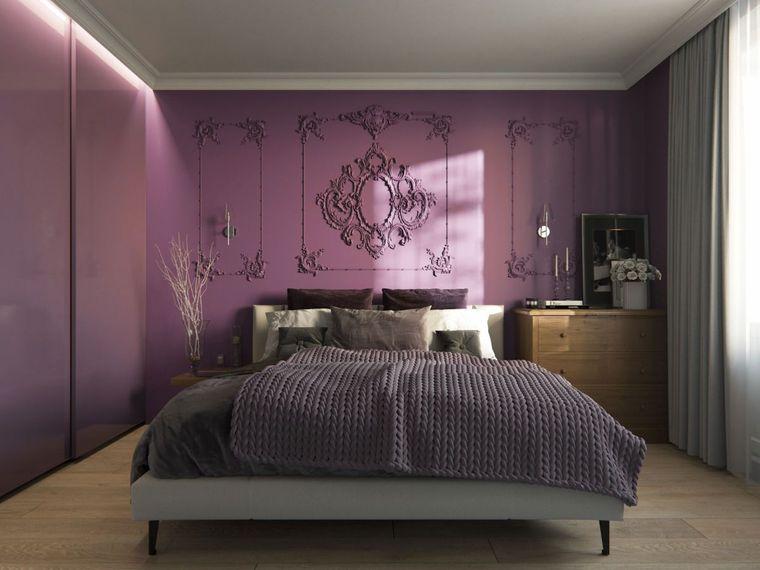 decoración de dormitorios violeta
