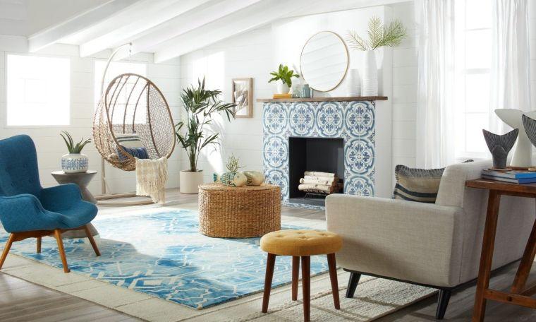 decoración moderna azul