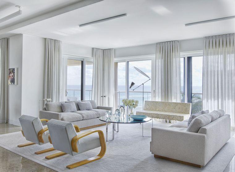 decoración moderna blanco gris