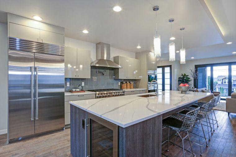 decoración moderna cocina acero