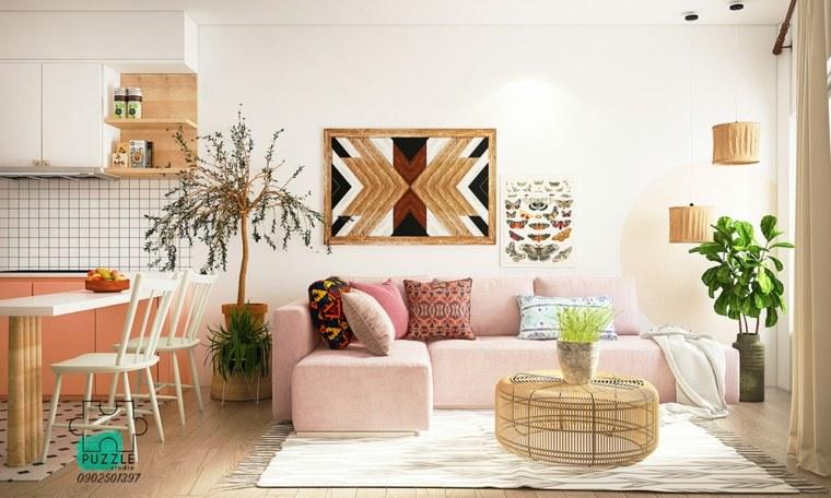 decoracion-pared-madera-ideas-boho-chic