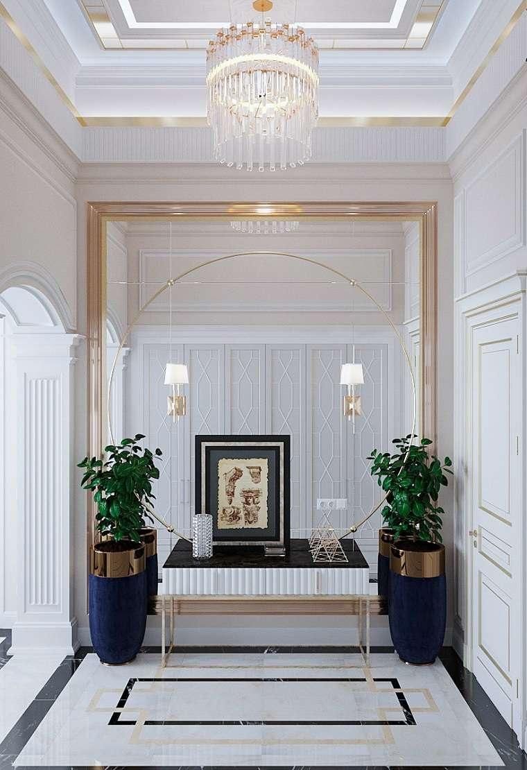 decoración pasillos-entradas-macetas-grandes