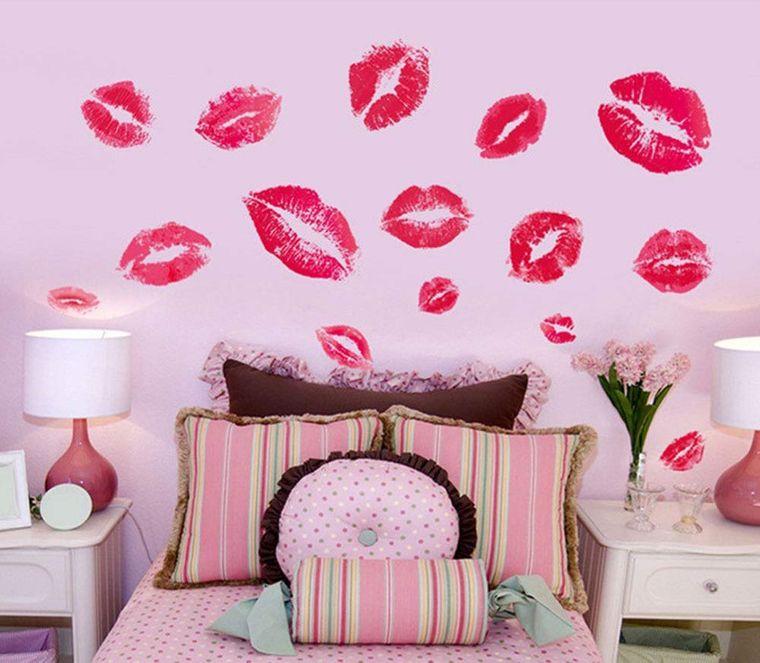 decoración san valentín besos