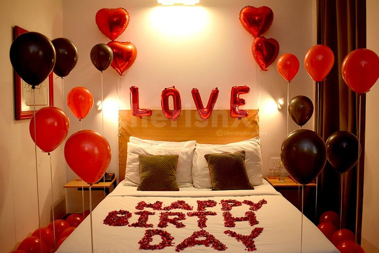 decoración san valentín globos