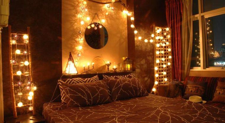 decoración san valentín luces