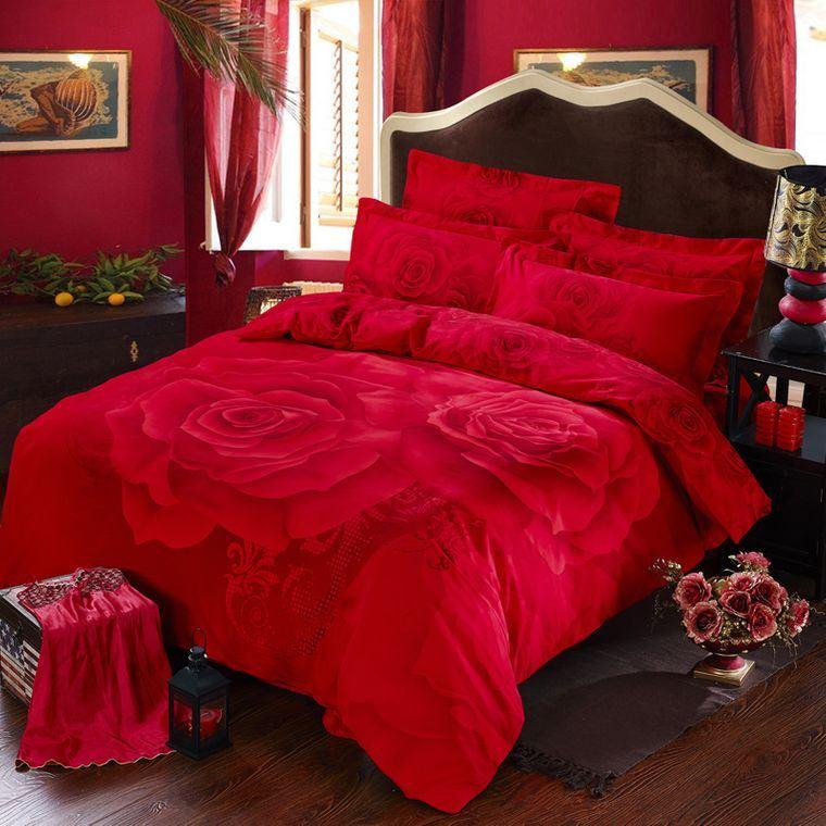 decoración san valentín rojo