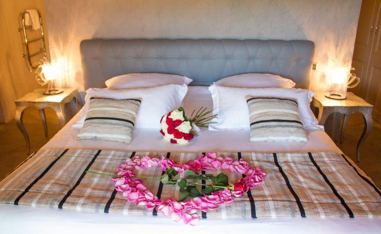 decoración san valentín rosa