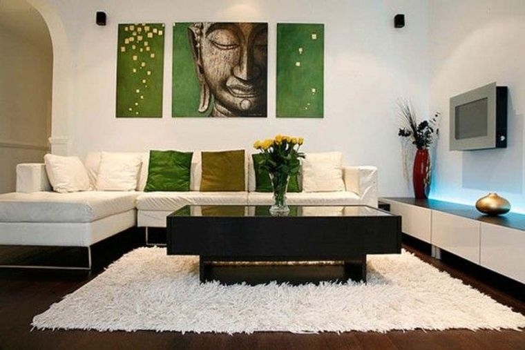 decoración zen alfombra