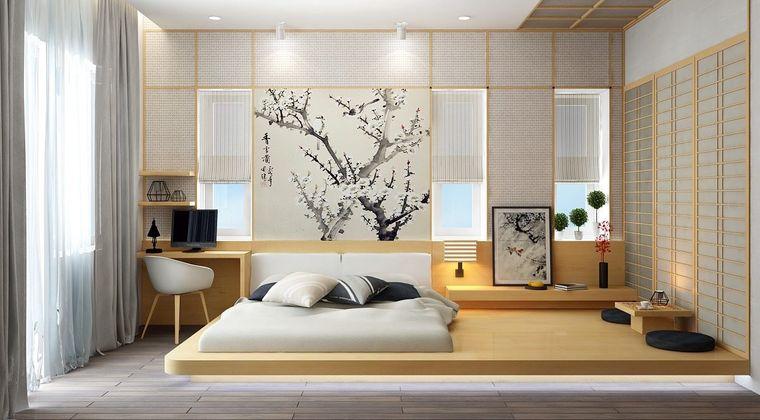 decoración zen cortina ligera
