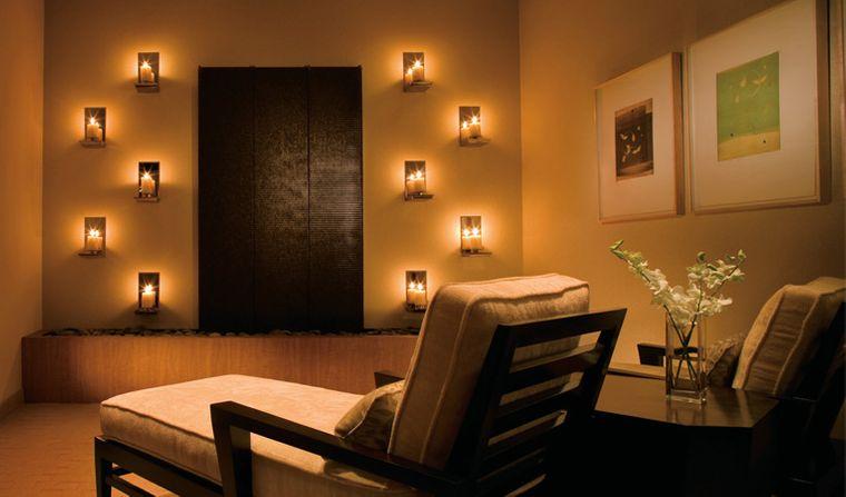 decoración zen luces