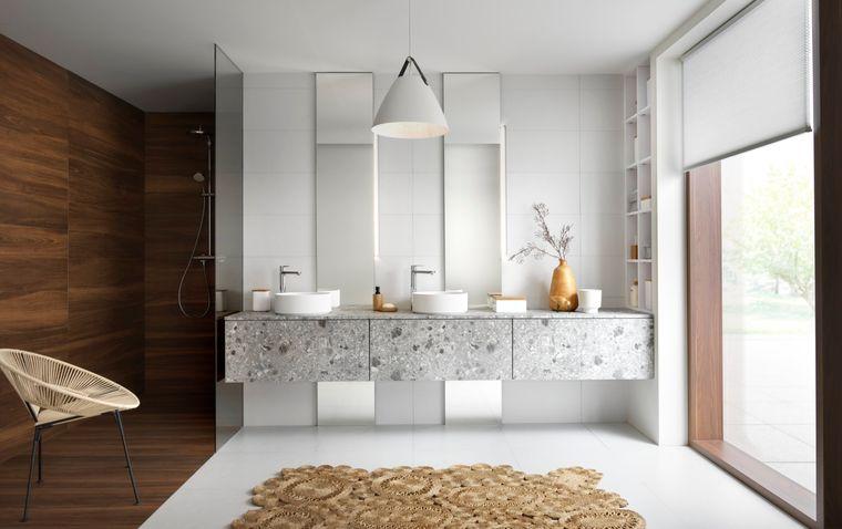 decoración zen mueble baño